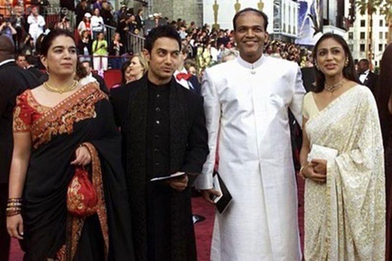 Aamir Khan with his exwife Reena, Ashutosh and Sunita Gowariker