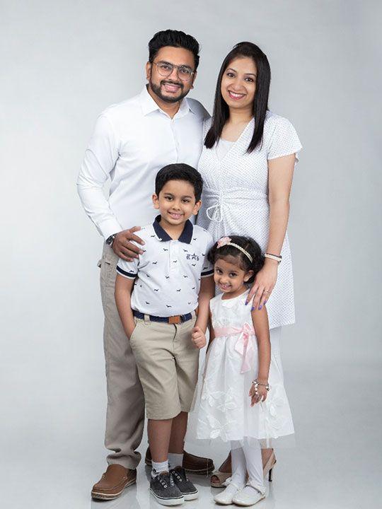 Eibu Kurien with his family