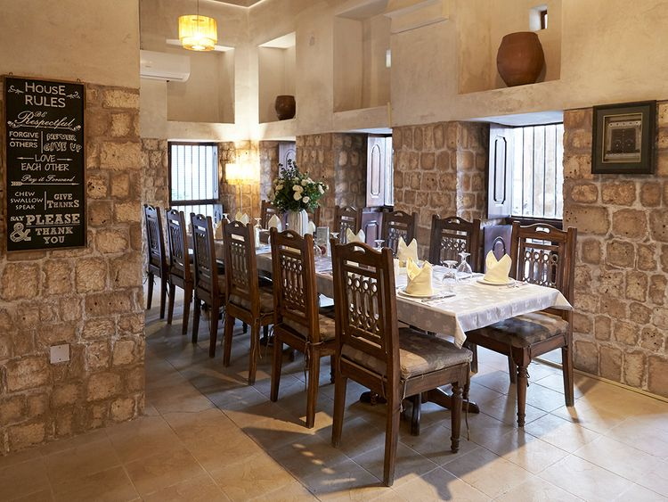 Indoor seating at Bayt Al Wakeel