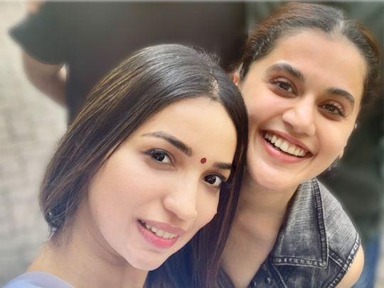 Kanika Dhillon and Taapsee Pannu