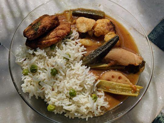 Sindhi Kadhi recipe using lotus stem, colocasia (arbi) and other fresh vegetables