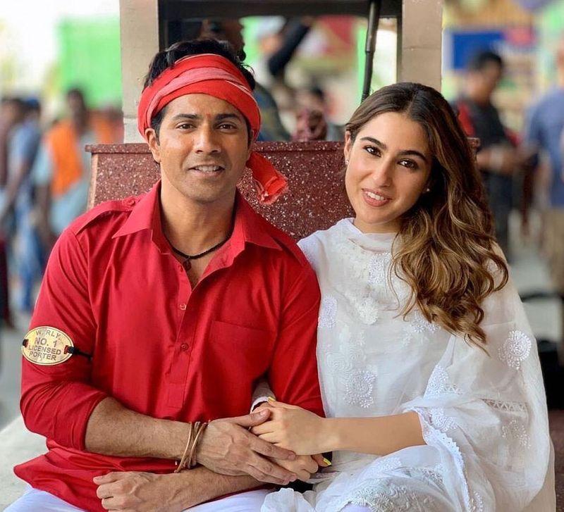 Varun Dhawan and Sara Ali Khan in Coolie No 1