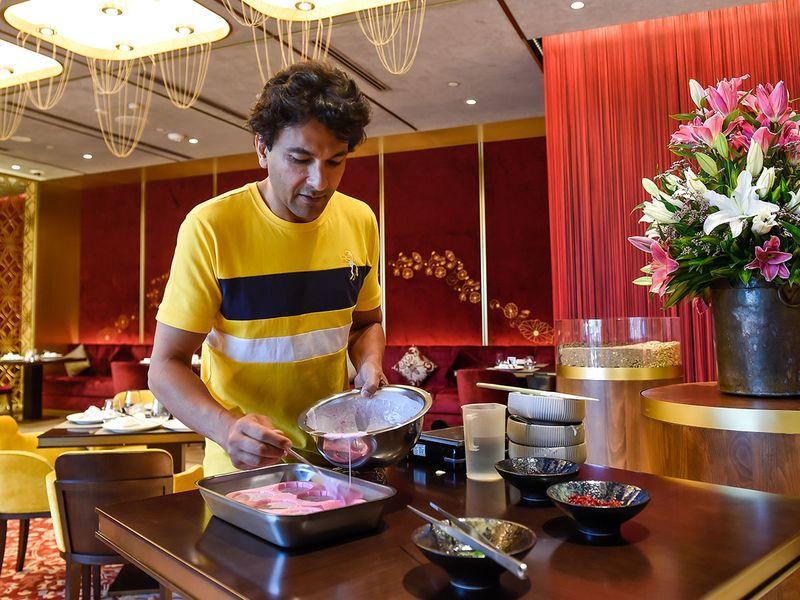 Vikas Khanna demonstrates his favourite recipe