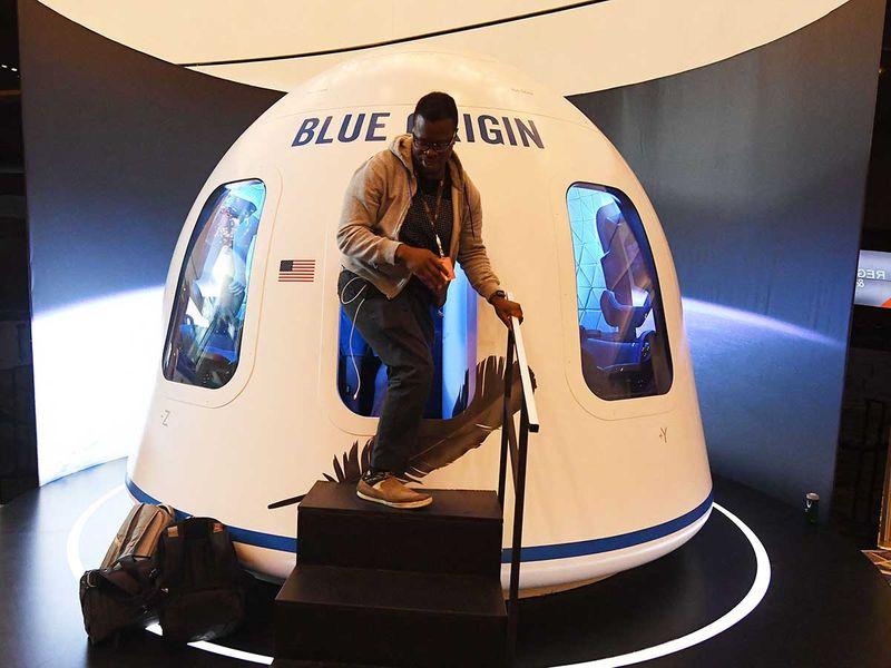 Blue Origin Bezos space simulator