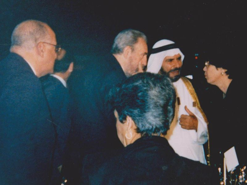 Dr. Zainal Baqer Mohebi (late) with late Cuban PM, Fidel Castro.JPG-1623853851143