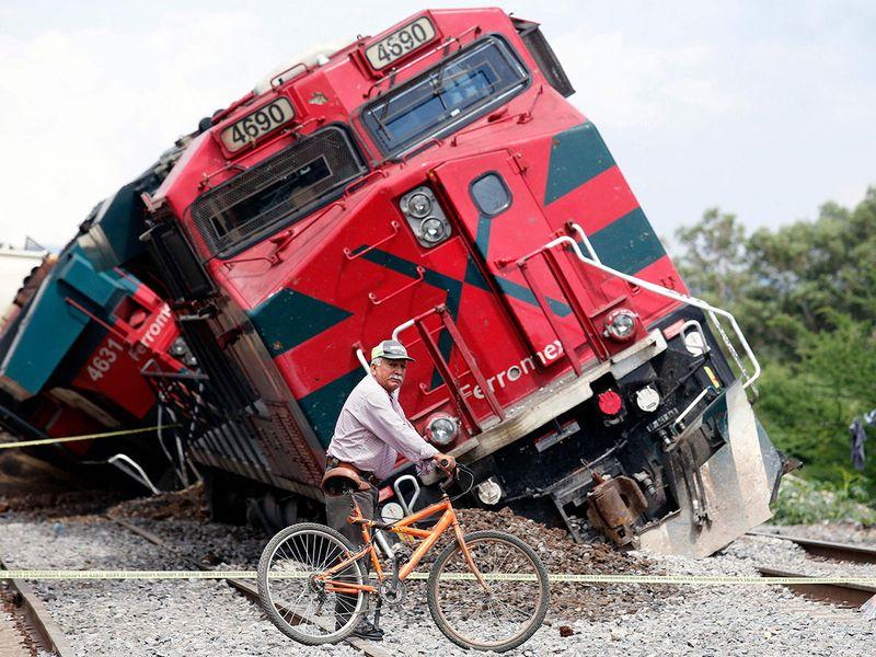 Freight train derailed