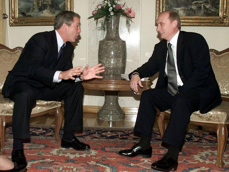 Putin Bush