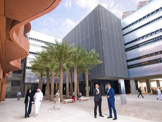 Stock Masdar city Abu Dhabi