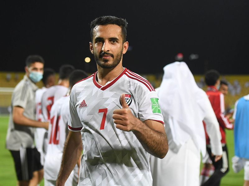 The UAE defeated Vietnam 3-2 to book their place in Qatar 2020 final round as group winners - Ali Mabkhout