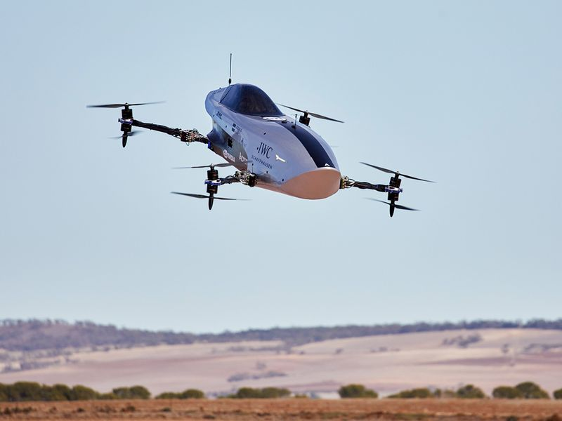 Look! World's first electric flying racing car tested