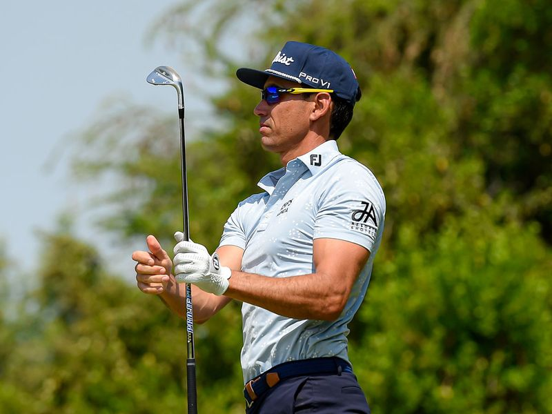 Rafa Cabrera Bello at Jebel Ali Golf Club in Dubai