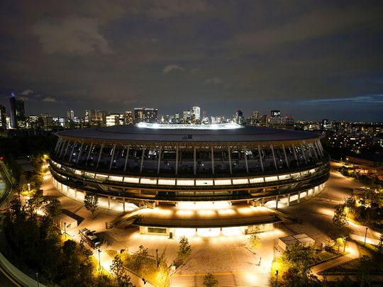 The Olympic Stadium in Tokyo. On Saturday, Tokyo banned all public viewing areas for the 2020 Olympics