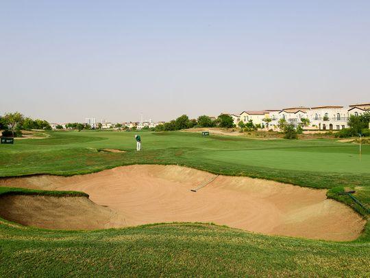 Bayar Khan during EAGL Mini-Series on the Fire Course at Jumeirah Golf Estates