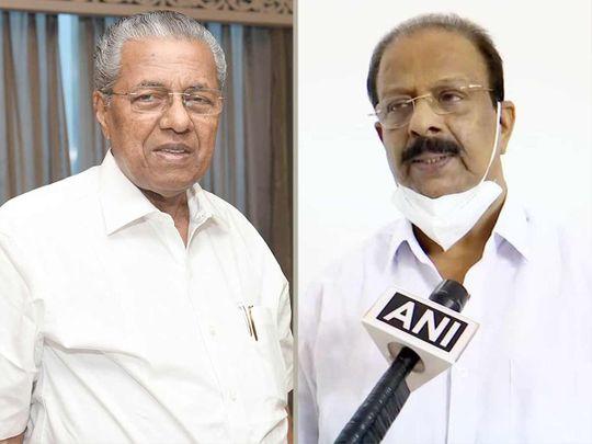 Kerala Chief Minister Pinarayi Vijayan and KPCC chief K Sudhakaran