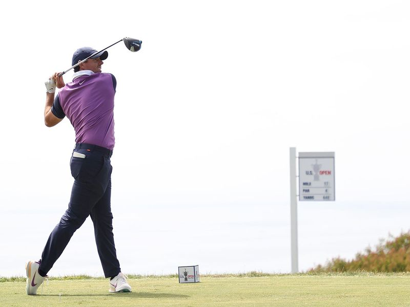 Rory McIlroy in action at the US Open