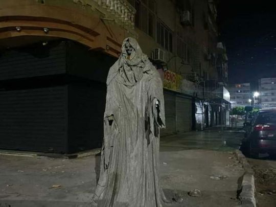 egypt ghost statue