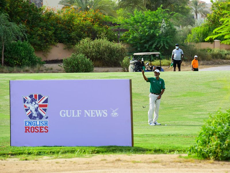 Advertising boards lined the Fire Course for the EAGL Mini-Series at Jumeirah Golf Estates