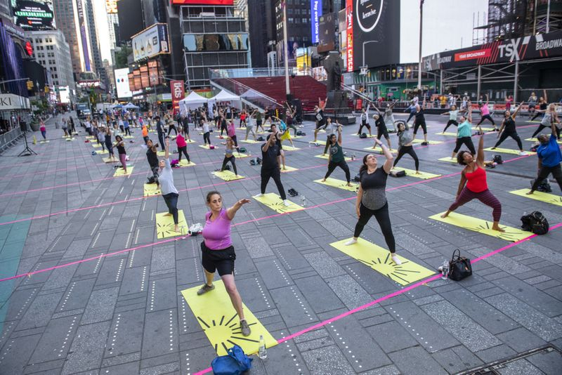 International Yoga Day: Over 3,000 people perform Yoga at iconic Times Square — see photos