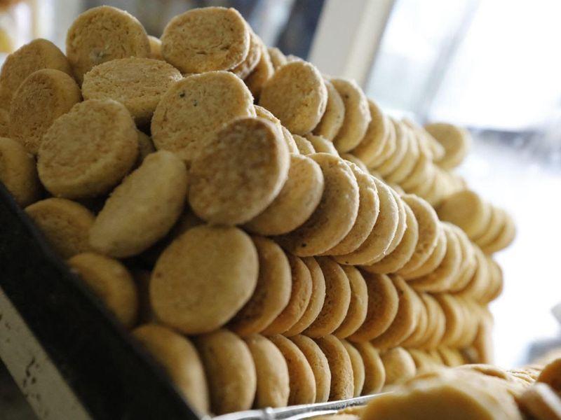 Freshly baked cookies at Crown Bakery