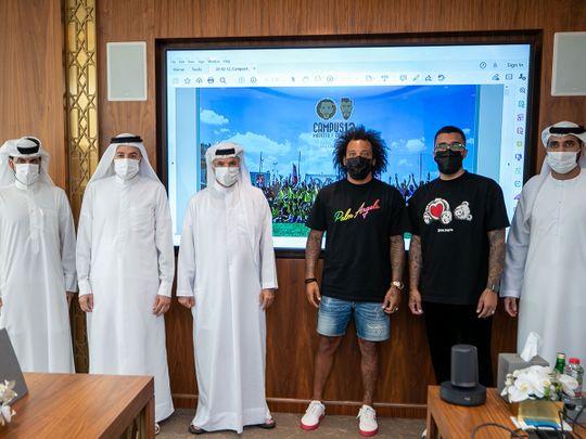 Marcelo visits the Dubai Sports Council headquarters