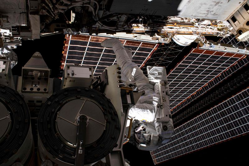 Photos: ISS astronauts complete a six-hour spacewalk to install solar panels