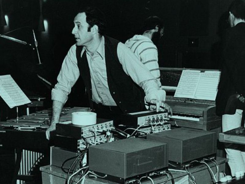 Steve Reich in April 1979, during a rehearsal at UCLA Album Pulse / Quartet currently available on Nonesuch