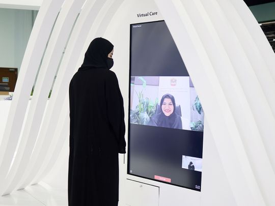 Virtual doctor at Arab health