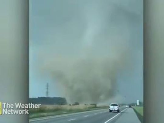 A screenshot of a video shared on social media