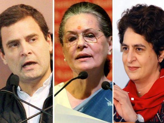 Gandhis - Rahul, Sonia, Priyanka