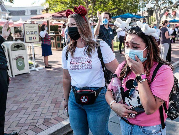 Park visitors get emotional inside Disneyland covid 19