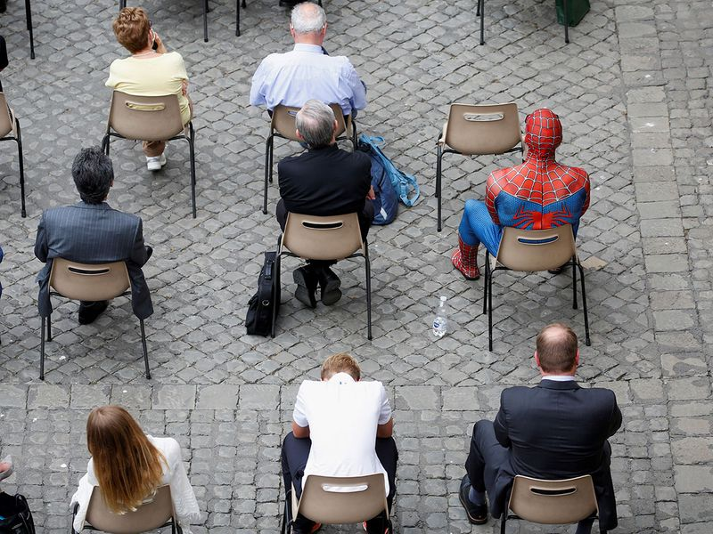 Far from home? Spider-Man drops in at the papal audience | News-photos –  Gulf News