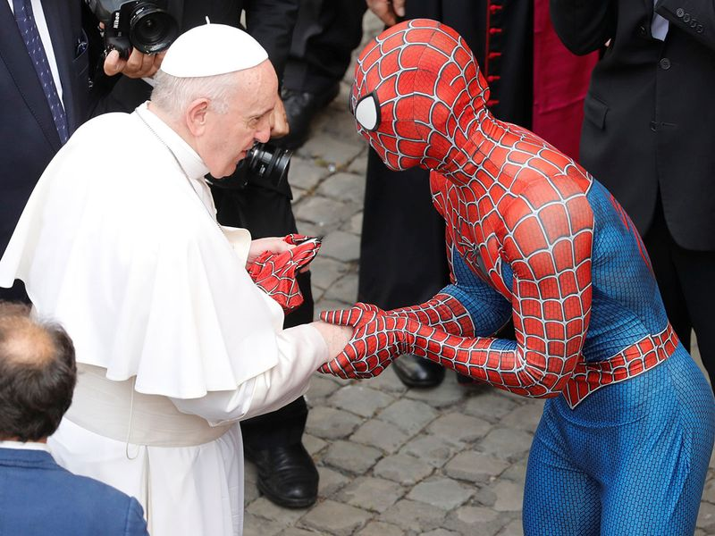 2021-06-23T095030Z_1933213380_RC286O91AED9_RTRMADP_3_POPE-SPIDERMAN