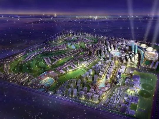 An artist's impression of Dubai Golf City