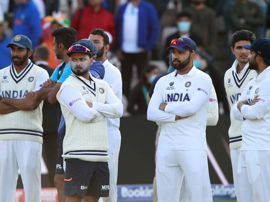 Disappointed Indian team in Southampton