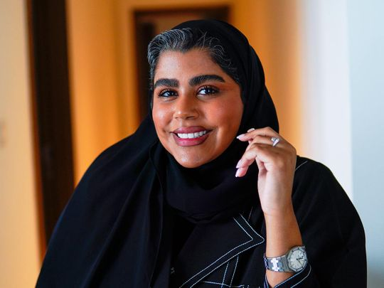 Taim Al Falasi, UAE social media influencer at her residence in Dubai on June 21, 2021.