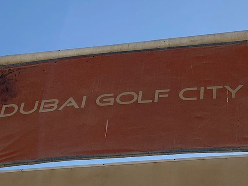 The Dubai Golf City project never took off