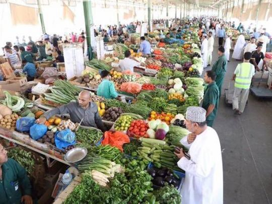 The Seeb Central Market in Muscat.
