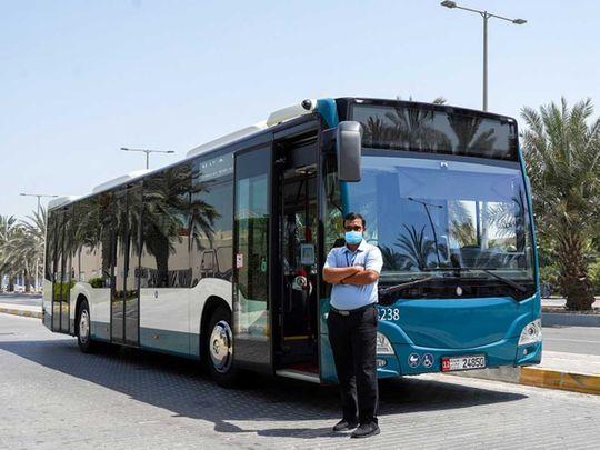 Abu Dhabi bus driver