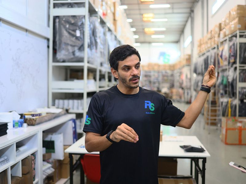 Stock - RoboStores' Aziz Al Harbi