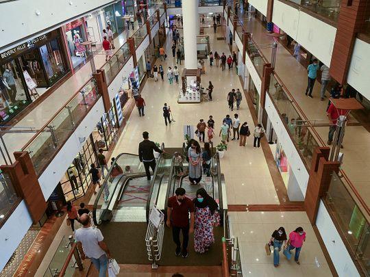 Stock India economy shopping mall