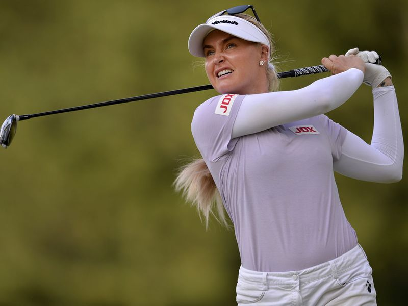 Charley Hull is one off the lead in the PGA Championship
