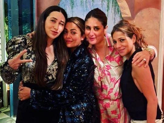 Karisma Kapoor with Amrita Arora and Kareena Kapoor Khan