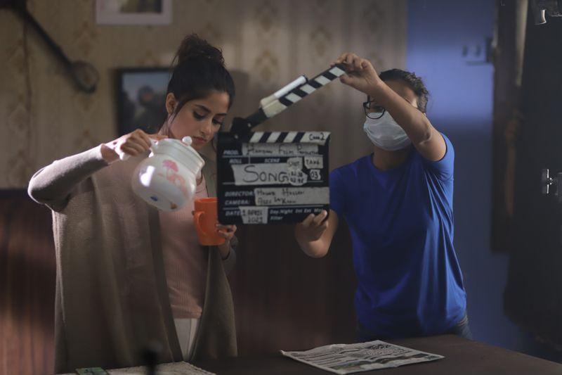 Sajal Ali at the shoot of Dhoop Ki Deewaar-1624702230598