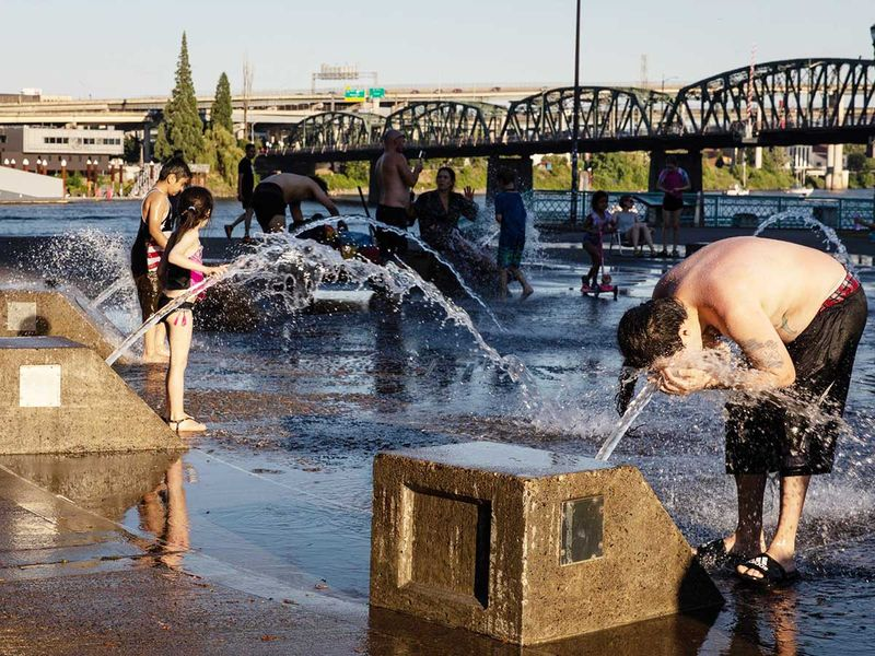 riverfront water heat wave