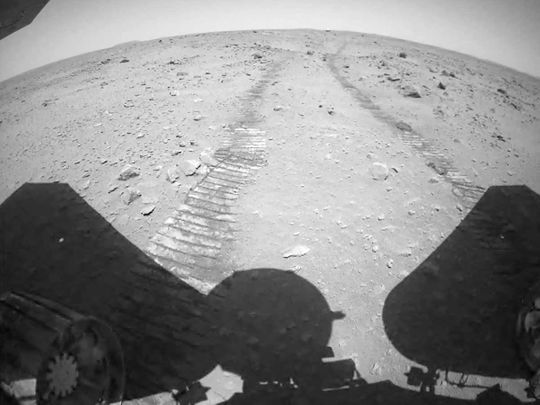 China's Zhurong Mars rover on the surface of Mars.