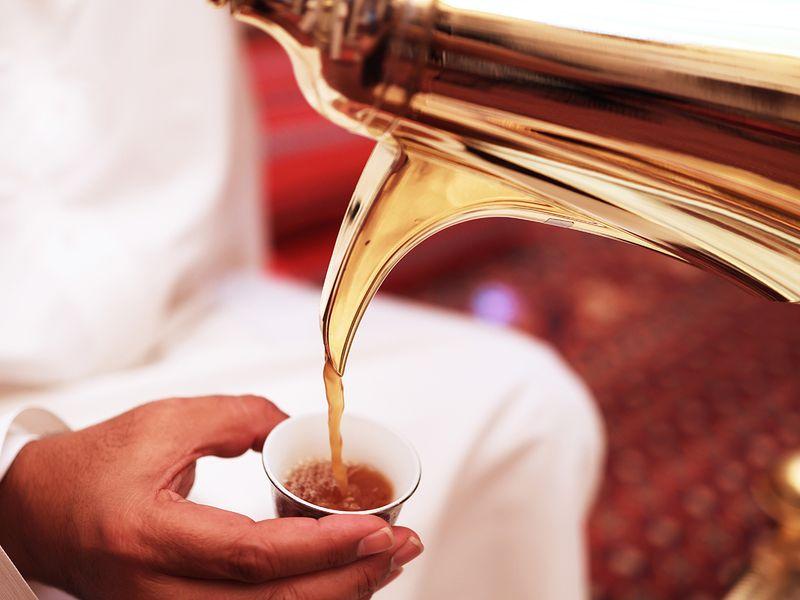 Gahwa - a traditional Emirati brewed coffee