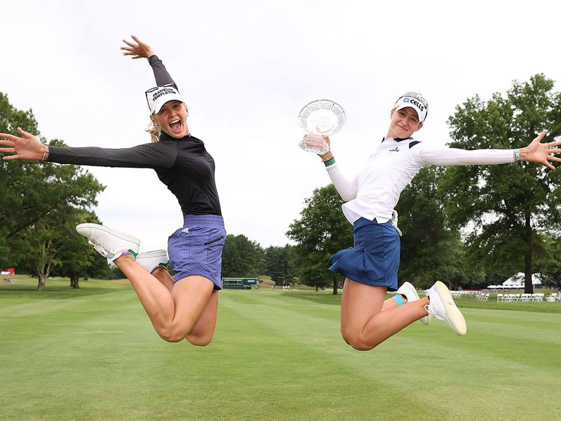 Nelly Korda with her big sister Jessica