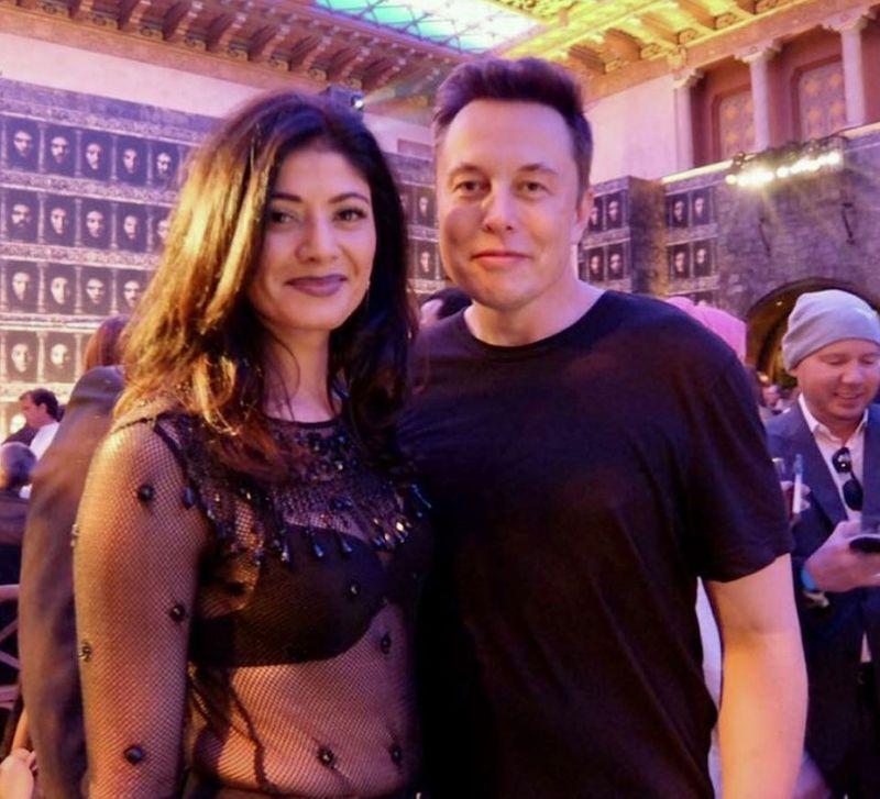 Pooja Batra and Elon Musk