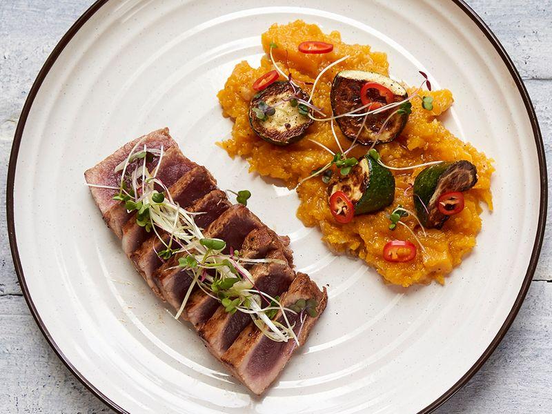 Tuna Steak by Cafe Mondoux