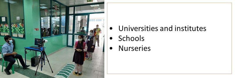•Universities and institutes •Schools  •Nurseries
